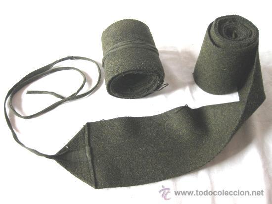 ANTIGUA PAREJA DE POLAINAS MILITARES DE FIELTRO - VENDAS TOBILLERAS - GUERRA CIVIL (Militar - Otros relacionados con uniformes )