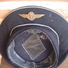 Militaria: GORRA MILITAR DE LA MARINA CON INSIGNIA METÁLICA PARACAIDISTA. EJÉRCITO.. Lote 26479089