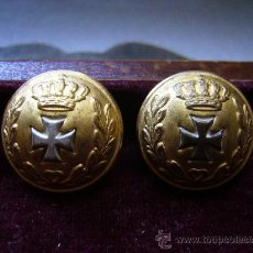 Militaria: 2 BOTONES DE SANIDAD MILITAR - ÉPOCA ALFONSO XIII . Lote 26897325
