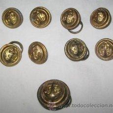 Militaria: LOTE DE 9 BOTONES DE LA ARMADA. Lote 27574495