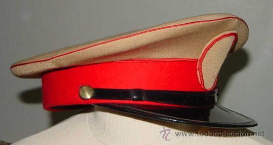 Militaria: Antigua gorra del Regimiento de la Guardia de S.E. El Jefe del Estado (Francisco Franco) - fabricada - Foto 3 - 27512211