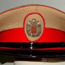 Militaria: ANTIGUA GORRA DEL REGIMIENTO DE LA GUARDIA DE S.E. EL JEFE DEL ESTADO (FRANCISCO FRANCO) - FABRICADA. Lote 27512211