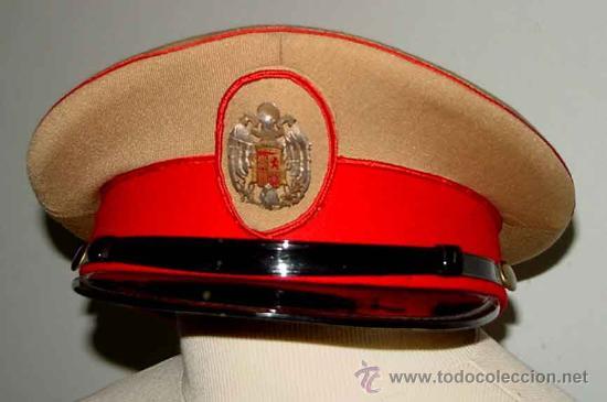Militaria: Antigua gorra del Regimiento de la Guardia de S.E. El Jefe del Estado (Francisco Franco) - fabricada - Foto 5 - 27512211