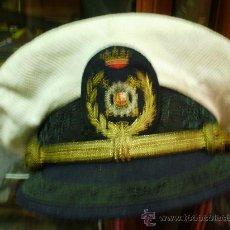 Militaria: GORRA DEL CUERPO DE ADUANAS.PRIMERA EPOCA DE FRANCO. CON FUNDA BLANCA. Lote 28579463