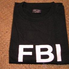 Militaria: CAMISETA NEGRA FBI MANGA CORTA. TALLA XXL. Lote 56264517