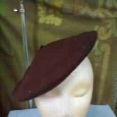 Militaria: BOINA MARRON ORIGINAL BERET. USADA.. Lote 29596698