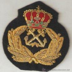 Militaria: ESCUDO GORRA CAPITAN DE YATE BORDADO A MANO. Lote 183975836