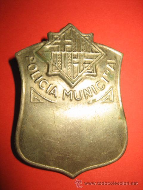 Militaria: ANTIGUA PLACA POLICIA MUNICIPAL CREO QUE PUEDE SER DE BARCELONA - Foto 3 - 30317825
