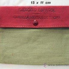 Militaria: CARTERA DEL EJERCITO ESPAÑOL PARA CARTILLA MILITAR. Lote 30375433