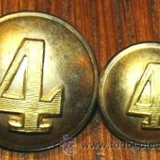 Militaria: BOTONES CON Nº 4, 2 PIEZAS TROPAS ESPAÑOLAS GUERRA DE CUBA . Lote 126872020