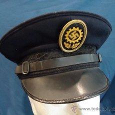 Militaria: ALEMANIA III REICH GORRA DE PLATO. DAF DEUTSCHE ARBEIT FRONT. TROPA .. Lote 13258492