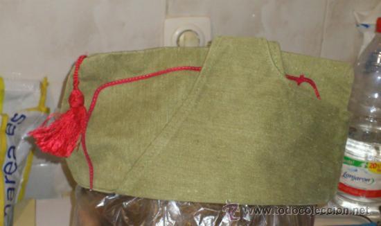 Militaria: Antiguo gorrillo cuartelero de orejeras tipo bustina, con borla. posiblemente Guerra civil española. - Foto 3 - 30914651