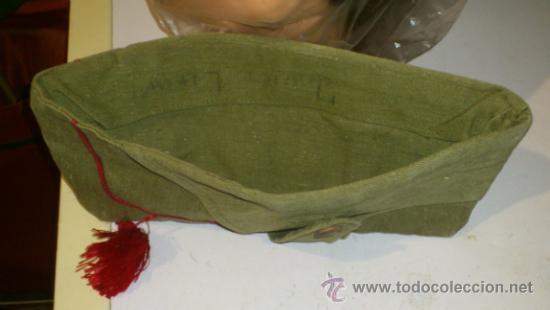 Militaria: Antiguo gorrillo cuartelero de orejeras tipo bustina, con borla. posiblemente Guerra civil española. - Foto 4 - 30914651
