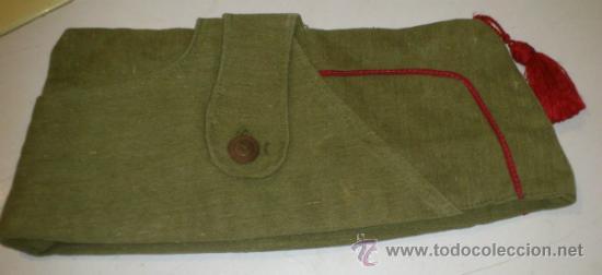 Militaria: Antiguo gorrillo cuartelero de orejeras tipo bustina, con borla. posiblemente Guerra civil española. - Foto 2 - 30914651