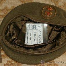 Militaria: BOINA MILITAR. EJÉRCITO ESPAÑOL. 1989 ELOSEGUI. LANA. MARRÓN. TALLA 55. . Lote 31311105