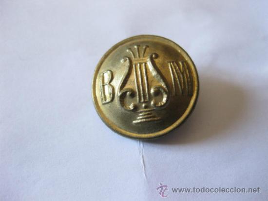 BOTON DE BANDA MUNICIPAL - AÑOS 20 O 30 - DIEZ Y COMPAÑIA - MADRID (Militar - Botones )