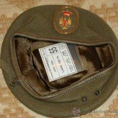 Militaria: BOINA MILITAR. EJÉRCITO ESPAÑOL. AÑOS 80. ELOSEGUI. LANA. MARRÓN. TALLA 55. . Lote 31834074