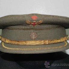 Militaria: ANTIGUA GORRA DE PLATO DE COMANDANTE DEL EJÉRCITO DE TIERRA. MIDE DE PERIMETRO CRANEAL 57 CMS.. Lote 31902802