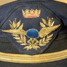 Militaria: GORRA PLATO AVIACION COPILOTO IBERIA CIRCULO AZUL EPOCA FRANCO CASA JESUS MARTINEZ MADRID. Lote 31963109