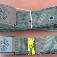 Militaria: PAREJA DE CINTURONES MILITARES A ESTRENAR. Lote 81980396