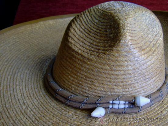 Militaria: sombrero de paja militar - Foto 2 - 32189888
