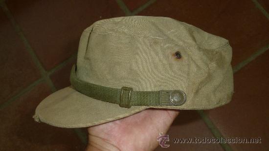 ANTIGUA GORRA ESPAÑOLA MODELO COREANA, DE FAENA, AÑOS 60-70 (Militar - Boinas y Gorras )