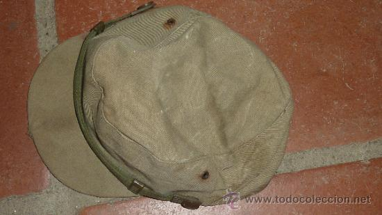 Militaria: Antigua gorra española modelo coreana, de faena, años 60-70 - Foto 5 - 32785280