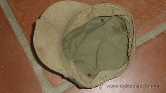 Militaria: Antigua gorra española modelo coreana, de faena, años 60-70 - Foto 6 - 32785280
