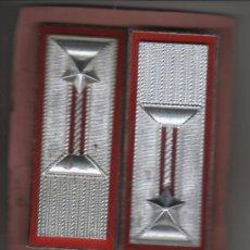 Militaria: PAREJA GALONES ITALIANOS METALICOS - LA.MI.SUD. ROMA C.C. 1987. Lote 32871707