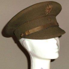 Militaria: GORRA ESPAÑOLA MODELO REGLAMENTO DE 1943 DE VISERA ALEMANA INCLINADA. MODELO DIVISIÓN AZUL. ALFÉREZ. Lote 32922755
