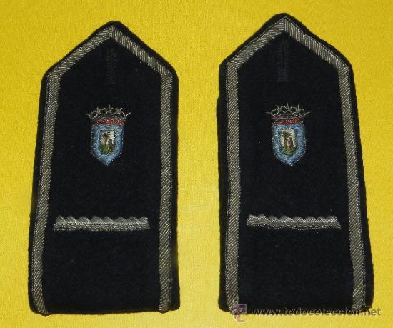 ANTIGUAS HOMBRERAS DE POLICIA MUNICIPAL DE MADRID, HOMBRERA DE TELA BORDADA. (Militar - Otros relacionados con uniformes )