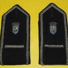 Militaria: ANTIGUAS HOMBRERAS DE POLICIA MUNICIPAL DE MADRID, HOMBRERA DE TELA BORDADA.. Lote 33344297