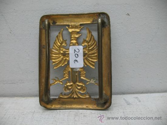 Militaria: Antigua hebilla militar - Foto 2 - 33428094