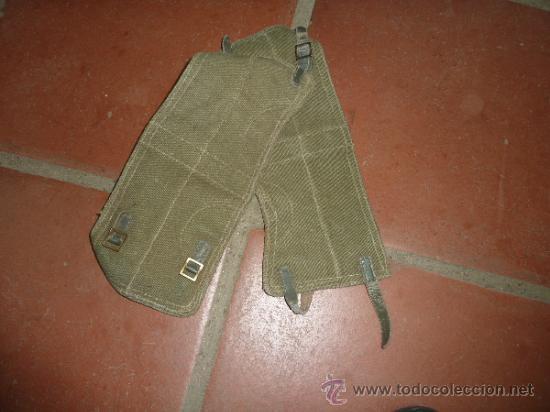 PAREJA DE ANTIGUAS POLAINAS A IDENTIFICAR EL MODELO. (Militar - Botas y Calzado)