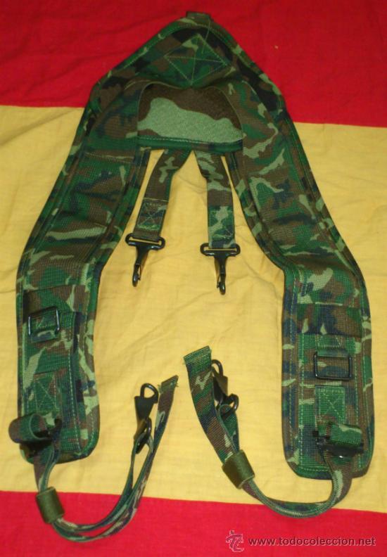 CORREAJE-TRINCHAS MIMETIZADO WOOLAND, LEGION, BRIPAC, COES, ESPAÑA (Militar - Cinturones y Hebillas )
