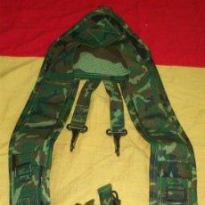 Militaria: CORREAJE-TRINCHAS MIMETIZADO WOOLAND, LEGION, BRIPAC, COES, ESPAÑA. Lote 36454348