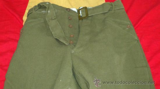 Militaria: PANTALON VERDE-KAKI DE MONTAR tipo BRECHES, DECADA años 50, con cinturon - Foto 6 - 35307074