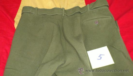 Militaria: PANTALON VERDE-KAKI DE MONTAR tipo BRECHES, DECADA años 50, con cinturon - Foto 4 - 35307074