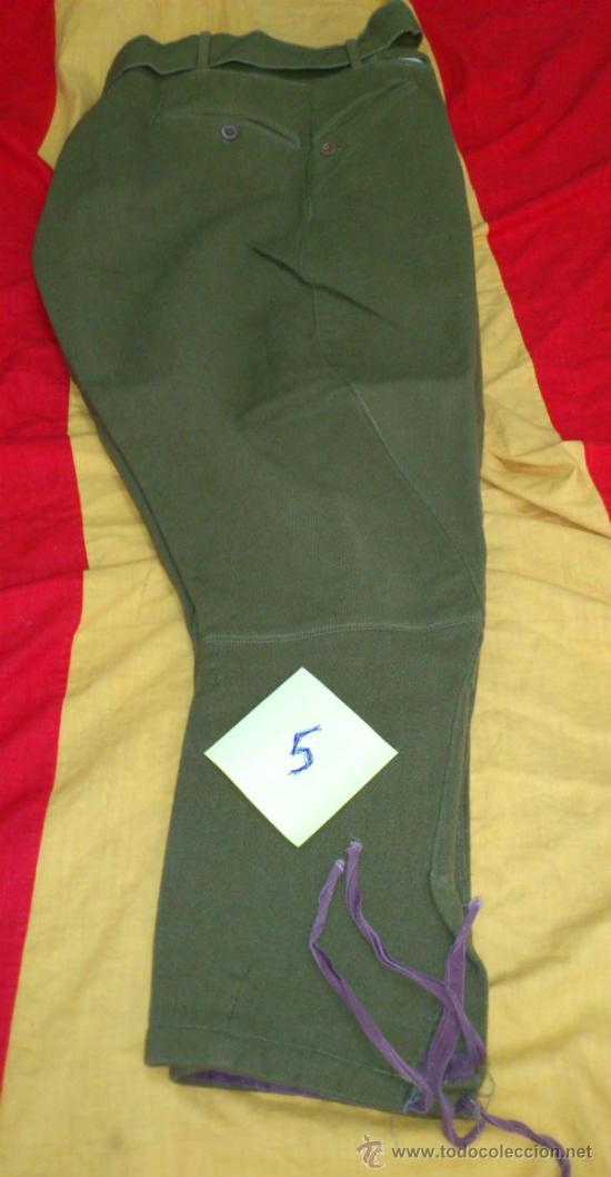 Militaria: PANTALON VERDE-KAKI DE MONTAR tipo BRECHES, DECADA años 50, con cinturon - Foto 3 - 35307074