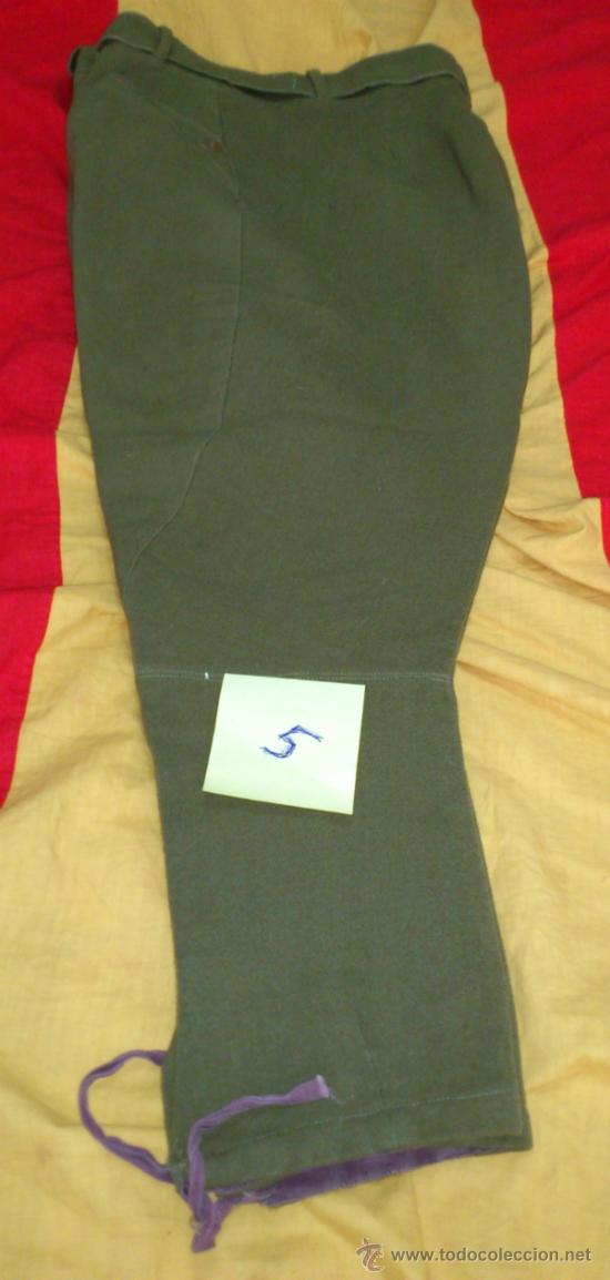 Militaria: PANTALON VERDE-KAKI DE MONTAR tipo BRECHES, DECADA años 50, con cinturon - Foto 2 - 35307074