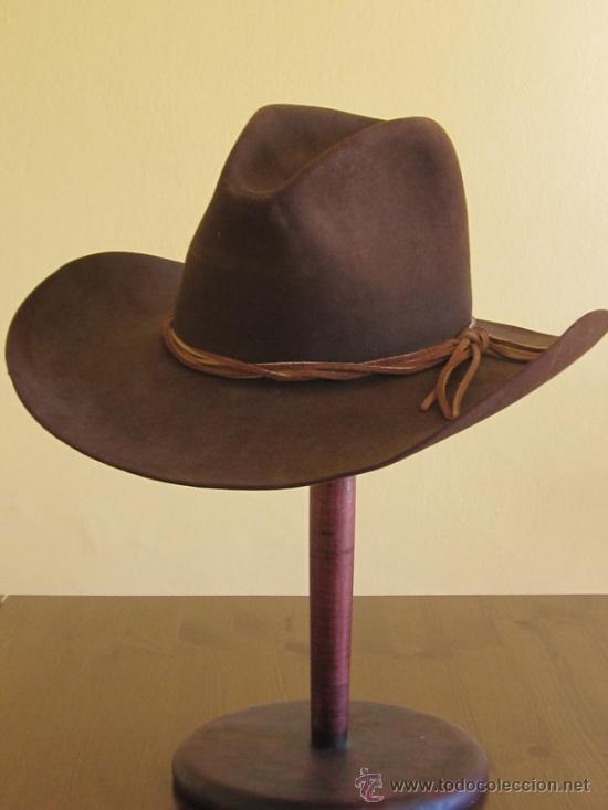 Sombrero Cowboy Stetson color marron oscuro. USA COWBOY VAQUERO STETSON 7029061df7d