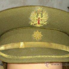 Militaria: ANTIGUA GORRA PLATO EMPLEO DE COMANDANTE, ESTRELLA Y AGUILA BORDADA, EPOCA FRANCO.-. Lote 35363387