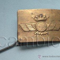 Militaria: 1 HEBILLA LATÓN TROPA EJERCITO DEL AIRE. REGLAMENTO 1943. RÉGIMEN ANTERIOR.. Lote 35463311