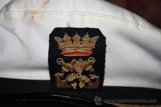 Militaria: LOTE DE GORRA Y GALONES DE LA MARINA - AÑOS 40 - Foto 3 - 35527230