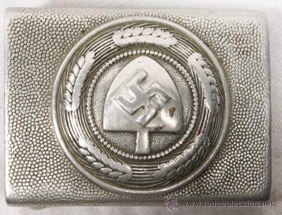 Militaria: Cinturón y hebilla del servicio de trabajo, Rad (Reichsarbeitsdienst), original alemán 2 GM - Foto 2 - 131502122