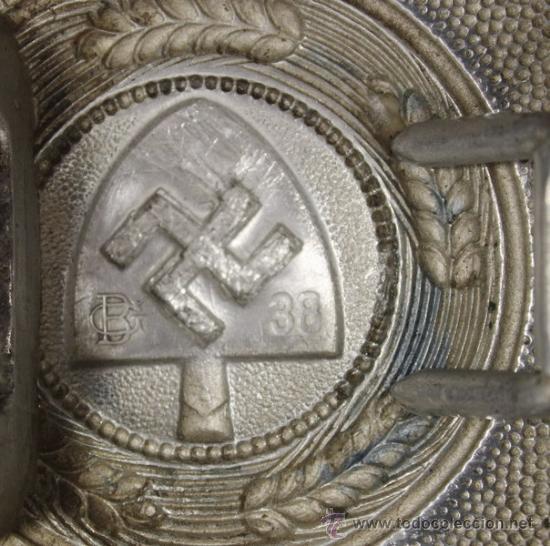Militaria: Cinturón y hebilla del servicio de trabajo, Rad (Reichsarbeitsdienst), original alemán 2 GM - Foto 3 - 131502122