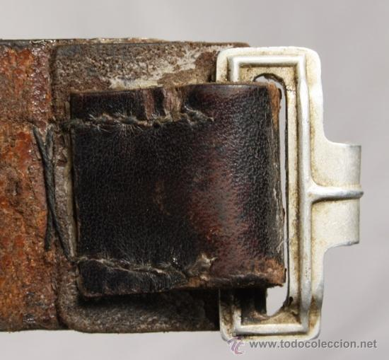 Militaria: Cinturón y hebilla del servicio de trabajo, Rad (Reichsarbeitsdienst), original alemán 2 GM - Foto 7 - 131502122