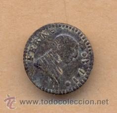 Militaria: MONEDA 420 - BOTÓN MILITAR FERNANDO VII - 18 MM - 2 GRS CURRENCY 420 - MILITARY BUTTON FERNANDO VII - Foto 1 - 35895242