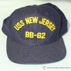 Militaria: GORRA. EJÉRCITO ESTADOS UNIDOS. US NAVY. USS NEW JERSEY BB 62. ACORAZADO IIWW VIETNAM.. Lote 179551827