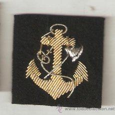Militaria: 1 PAR DISTINTIVOS ARMADA MANIOBRA Y NAVEGACIÓN BORDADO A MANO EN CANUTILLO ORO. Lote 179344525